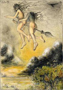 Die schöne Meisterin (frei n. Goyas Capricho No. 68)