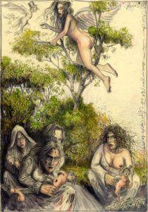Und dann werden sie doch nur gerupft (frei n. Goyas Capricho No. 19)