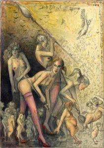 Die Vögel - Der große Rausschmiss (frei n. Goyas Capricho No.20)