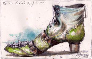 Kleiner Schuh des Gullivers