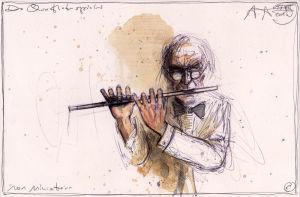 Der Querflötenspieler