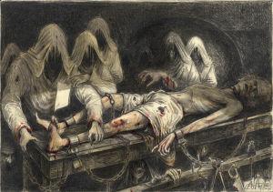 """Grube und Pendel I. - """"Ich war kank auf den Tod nach dieser langen Qual ..."""""""