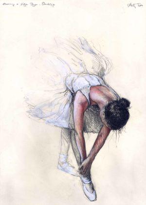 Hommage á Edgar Degas: Stretching