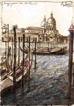 Morgengrauen über dem Kanal