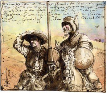 Cervantes Ritter der traurigen Gestalt und Sancho Panza