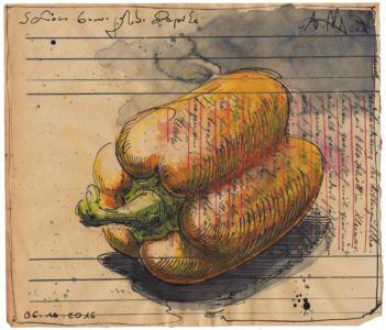 Schöne, brave, gelbe Paprika