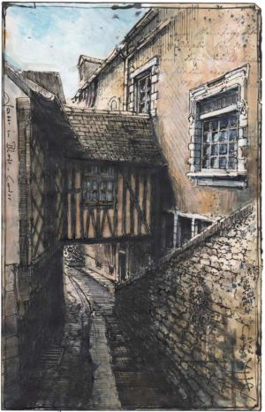 Gasse in Blois - Loire