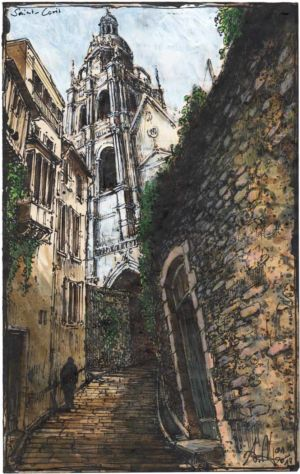 Treppe zur Kathedrale Saint-Louis (Blois)