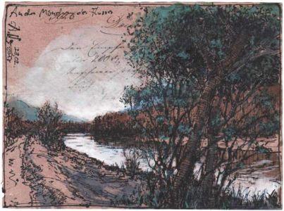 An der Mündung des Flusses