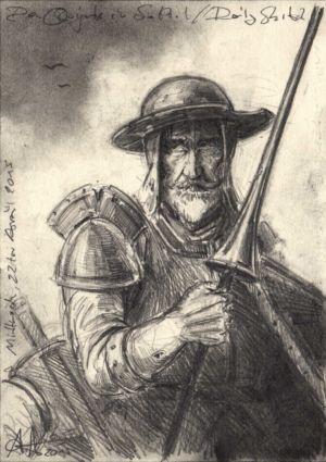 Don Quijote im Sattel