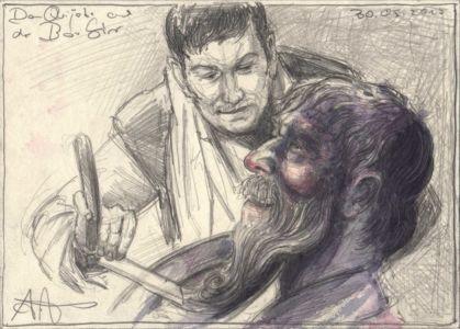 Don Quijote und der Barbier