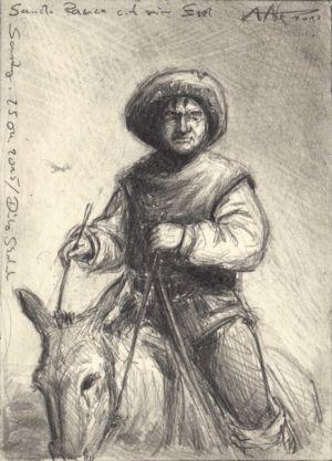 Sancho Panza auf seinem Esel