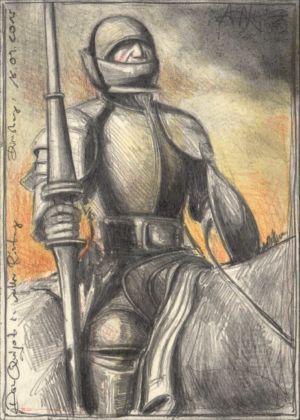 Don Quijote in voller Rüstung