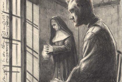 Van Gogh in the mental Hospital of Saint Rémy