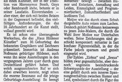 Andreas Noßmann im Haus Hildener Künstler