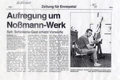 Aufregung um Noßmann-Werk