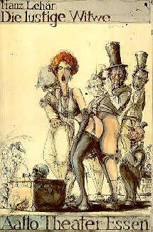 """Das Plakat für die """"Lustige Witwe"""""""