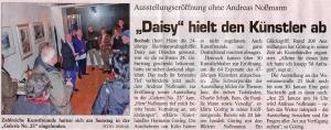 """Daisy"""" hielt den Künstler ab"""