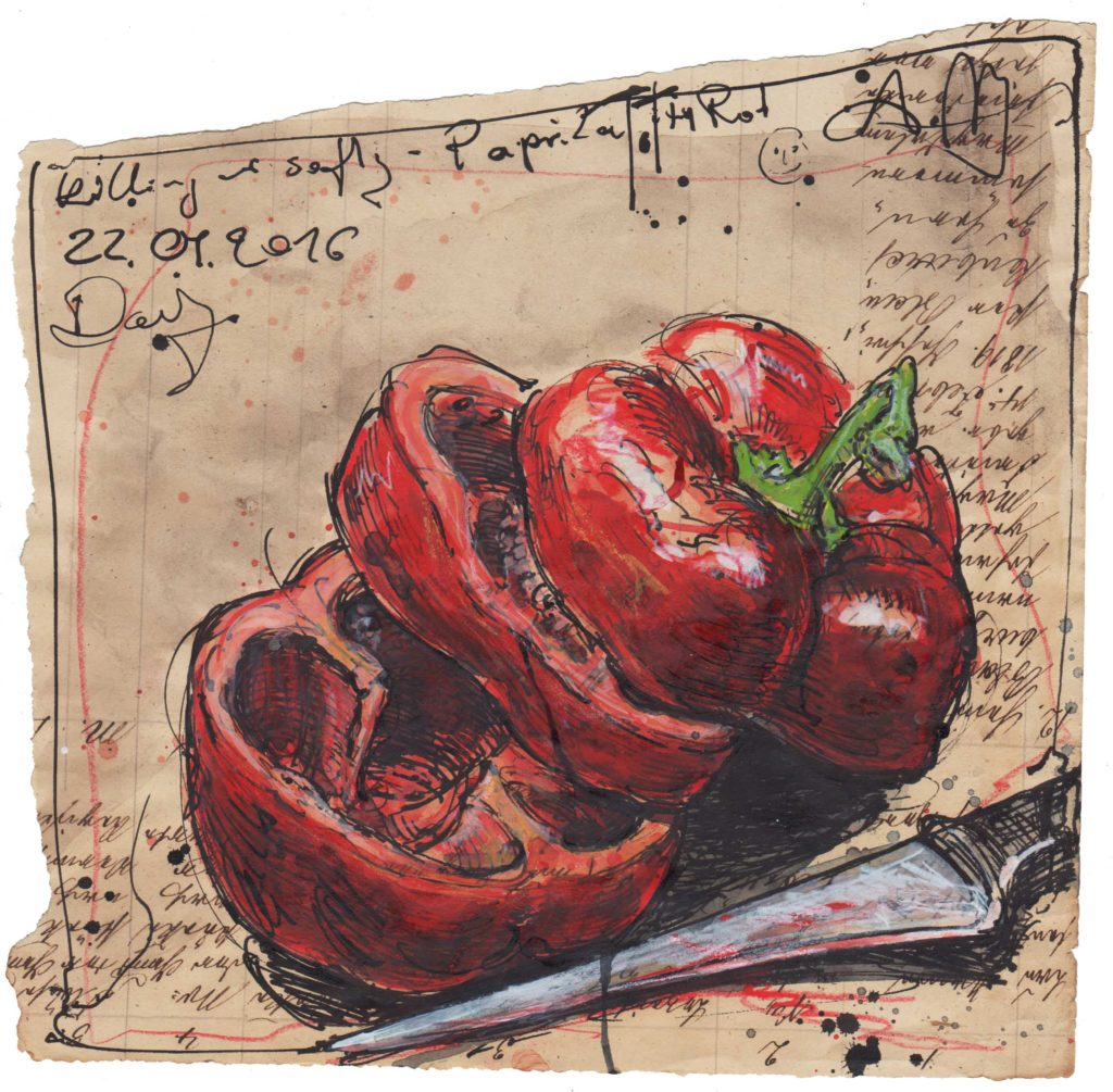 Killing me softly, Paprika tot, in rot