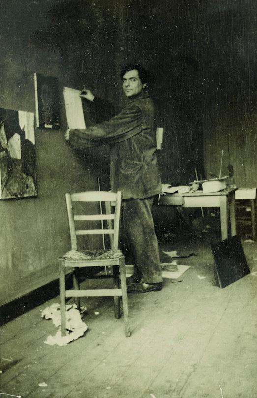 Modigliani im Atelier